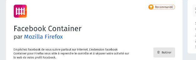 Isolez Facebook avec « Facebook Container » de Mozilla