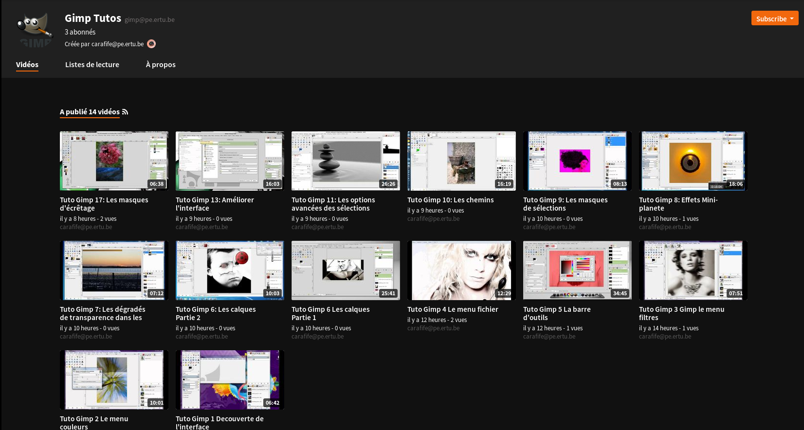 Nouvelles – tutos GIMP – AIL – Association pour une Informatique Libre