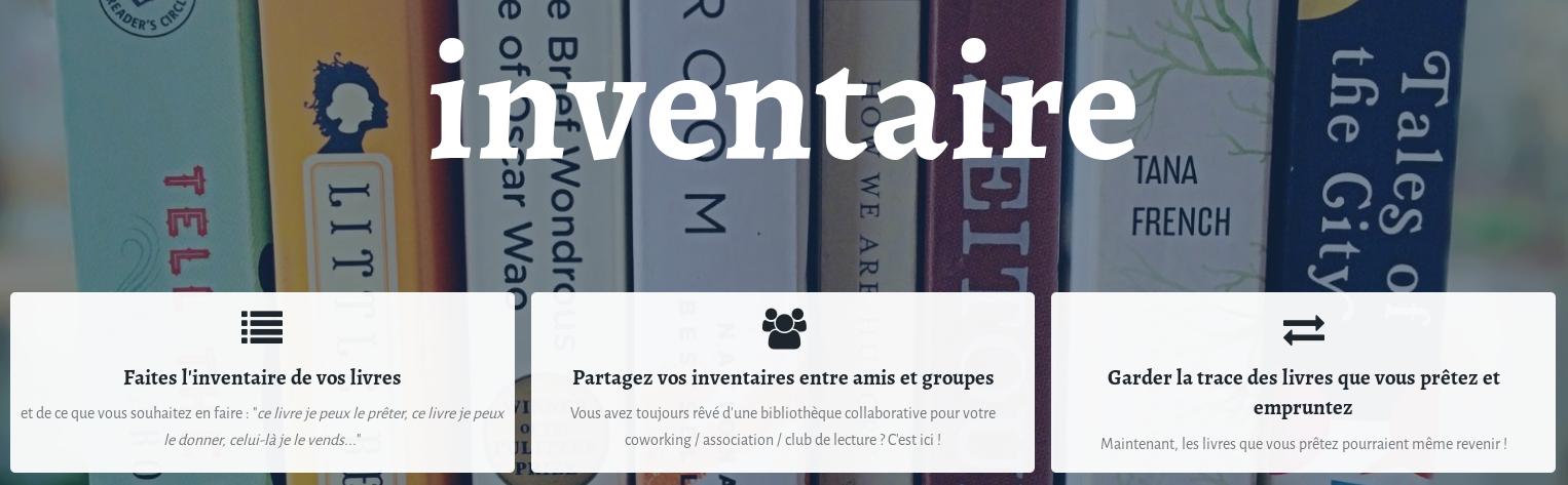 Inventaire – gérez votre bibliothèque librement !