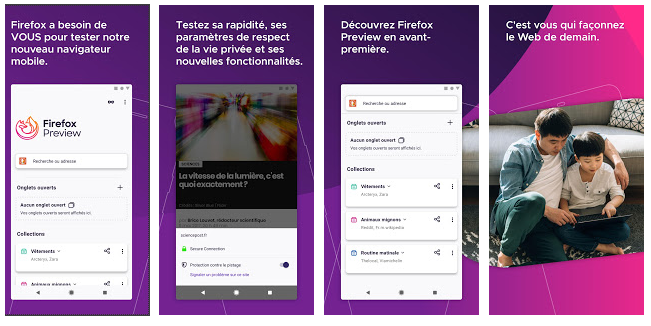 Firefox preview, le Libre sur mobile
