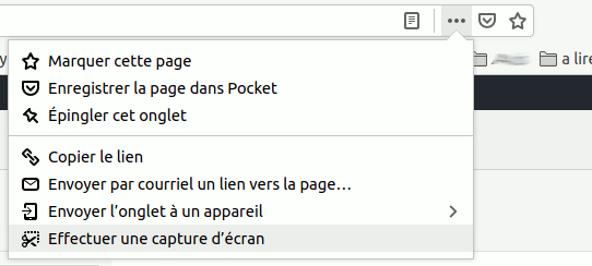 capture écran Firefox