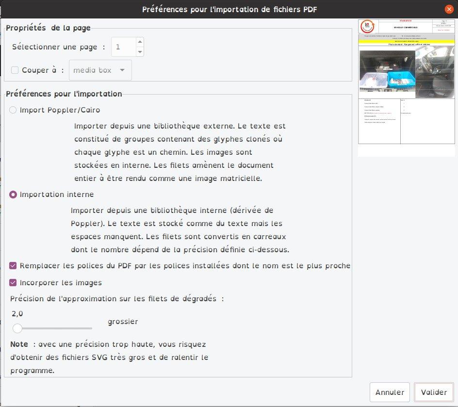 Inkscape import pdf